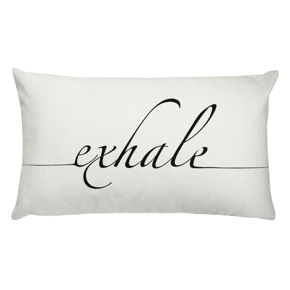 Exhale Rectangular Pillow